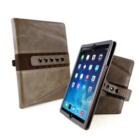"""Tuff-Luv Tri-Axis Western Leather Case Cover for Apple iPad Pro 12.9"""" - Brown"""