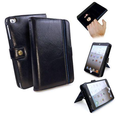 new concept 2acb9 ad0c0 Tuff-Luv Alston Craig Genuine Leather Embrace Pro Case Cover for Apple iPad  Mini 4 (Sleep Function) - Black