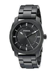 Fossil FS4775 Machine Three Hand Stainless Steel Watch Black (Parallel Import)