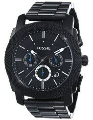 Fossil Men's FS4552 Machine Black Stainless Steel Chronograph Watch (parallel import)