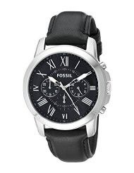 Fossil FS4812 Grant Chronograph Black Leather Watch (parallel import)