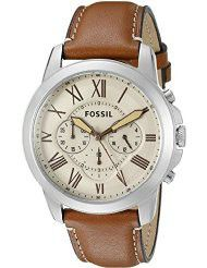 Fossil Men's FS5118 Stainless Steel Watch with Brown Leather Band (parallel import)