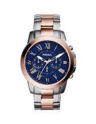 Fossil Men's FS5024 Grant Chronograph Two-Tone Rose and Silver Stainless Steel Watch (parallel import)