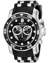 Invicta Men's 6977 Pro Diver Collection Chronograph Black Dial Black Polyurethane Watch (parallel import)