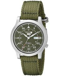 Seiko Men's SNK805 Seiko 5 Automatic Stainless Steel Watch with Green Canvas Strap (parallel import)