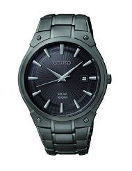 Seiko Men's SNE325 Dress Solar Black Stainless Steel Watch (parallel import)