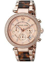 Michael Kors Women's MK5538 Parker Brown Crystal-Accented Watch (parallel import)