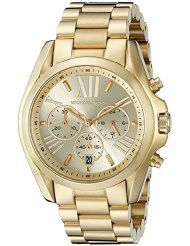 Michael Kors Women's MK5605 Bradshaw Gold-Tone Stainless Steel Watch (parallel import)