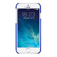 MACALLY - SnapCase for the iPhone 6/6s - Metallic Blue