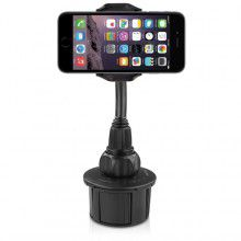 MACALLY - Adjustable car cup holder mount for iPhone, smartphone and mobile phone - XL long neck