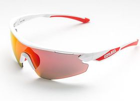 Salice 012 RW White & Red Cycling Sunglasses