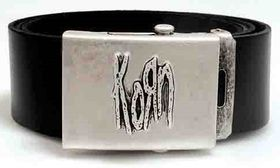 Alchemy Poker Leather Belt with Buckle and leather wristband - Korn logo
