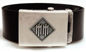 Alchemy Poker Leather Belt with Buckle and leather wristband - Marilyn Manson