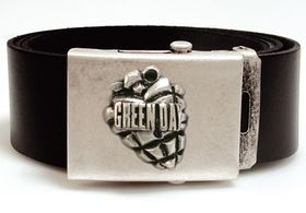 Alchemy Poker Leather Belt with Buckle and leather wistband - Green Day Bomb