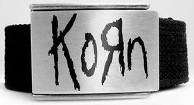 Alchemy Poker Polyester Belt with Buckle and leather wristband - Korn logo