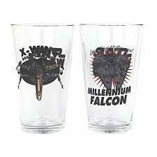 Star Wars Spacecraft Glasses - Set of 2 (Parallel Import)