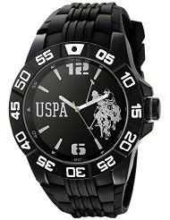 U.S. Polo Assn. Sport Men's USP9031 Analog Display Analog Quartz Black Watch (Parallel imports)