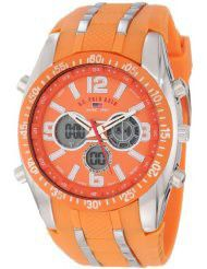 U.S. Polo Assn. Sport Men's US9285 Orange and Silver-tone Watch (Parallel imports)