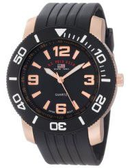 U.S. Polo Assn. Sport Men's US9125 Black and Rose Gold-Tone Watch (Parallel imports)