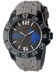 U.S. Polo Assn. Sport Men's USP9033 Analog Display Analog Quartz Grey Watch (Parallel imports)