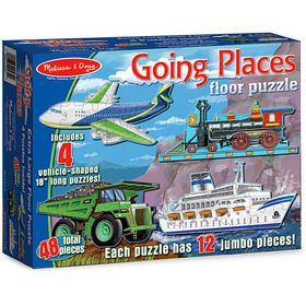 Melissa & Doug Going Places Floor Puzzle - 48 Piece