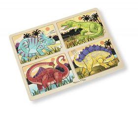 Melissa & Doug 4 in 1 Dinosaur Wooden Jigsaw Puzzle - 16 Piece