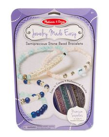 Melissa & Doug Semiprecious Stone Bead Bracelets