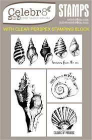 Celebr8 Sea Treasures Stamp - Mini Shells