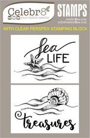 Celebr8 Sea Treasures Stamp - Sea Treasures