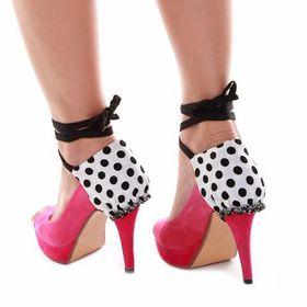 Heels Diva Double Mod Heel Wrap - Polka Dots/Houndstooth