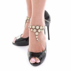 Heels Diva Champagne Matte Shoe Chain - Beige