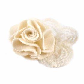 Heels Diva A Little Lace Shoe Clip - Cream