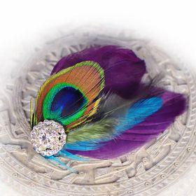 Heels Diva Lydia Shoe Clip - Peacock