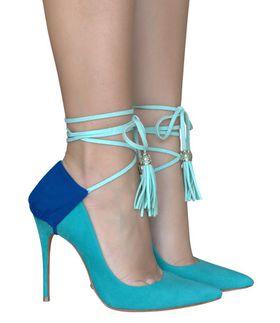 Heel Condom Blue Crush - Blue