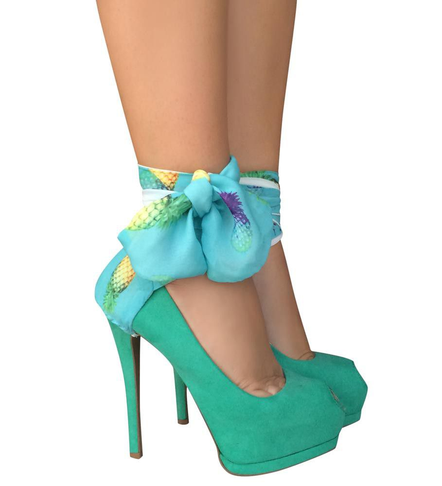 Heels Diva Heel Condom Pineapple Blue - Blue & Yellow | Buy Online ...