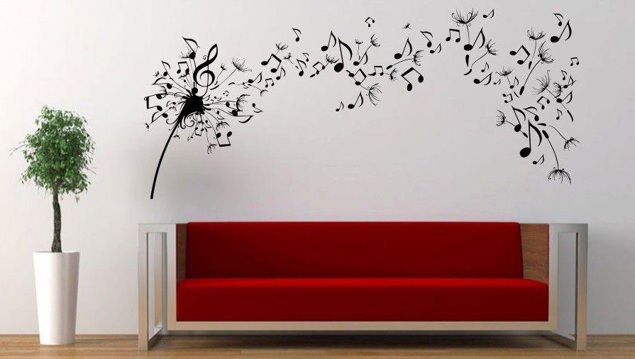 Bedight Wall Art Bedight Dandelion Flying Musical Notes Vinyl Wall ...