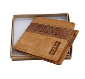 Fino Genuine Leather  Wallet with Sim Card Holder - Brown (DWS87021F)