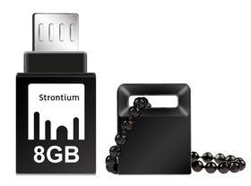 Strontium 8GB NITRO OTG USB 3.0 Flash Drive - Black