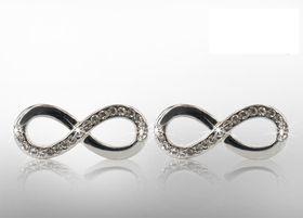 Infinity Loop Earrings with Swarovski Elements