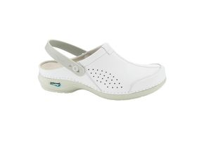 Nursing Care Washable Leather Clog Style Ladies Shoes - White