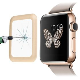 Tuff-Luv Curved Tempered Tuff-Glass Zero Air Bubble for Apple Watch 38mm - Gold