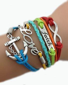 Urban Charm Rainbow Nation Infinity Charm Bracelet - Multicolour