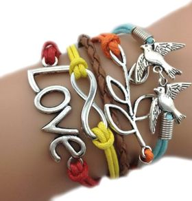 Urban Charm Autumn Infinity Bracelet - Multicolour