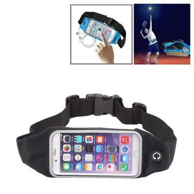 Tuff-Luv Waterproof Sports Runners Waist Bag Pouch for iPhone 6s - Black