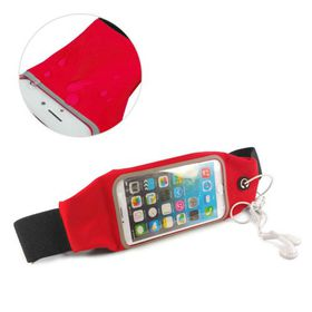 Tuff-Luv Waterproof Sports Runners Waist Bag Pouch for iPhone 6s - Red