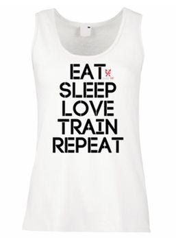SweetFit Ladies Eat Sleep Train Vest