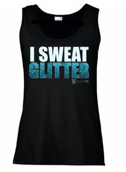 SweetFit Ladies I Sweat Glitter Vest
