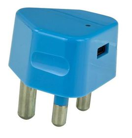 Whizzy Single USB 3 Pin Wall 2.1 Amp Charger - Blue