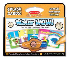 Melissa & Doug Splash Cards, Shapes, Numbers & Colours