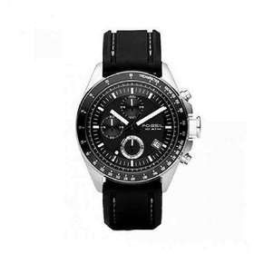 Fossil Men's CH2573 Black silicon Strap Black Analog Dial Chronograph Watch (parallel import)